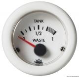 Füllstandanzeiger für Nutz- und Schmutzwassertanks Farbe weiß 12Volt