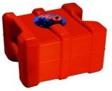 Kraftstofftank mit Griffen. Aus Polyethylen. Ausgestattet mit einer Flanschplatte