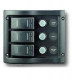 Schalttafel 12 V mit 3 Schaltern mit LED Indikatoren BBN8