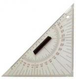Kursdreieck aus Plexiglas 2 mm