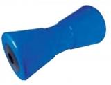 Mittlere Kielrolle mit Eisenkern  Länge 200mm Bohrung 17mm Blau