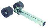 Bewegliche Seitenrolle, 40mm, 2 Rollen, Trailerzubehör 120mm erhöht