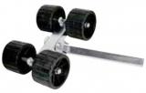Bewegliche Seitenrolle, 40mm, 4 Rollen, Trailerzubehör 120mm