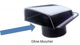 Montageplatte mit Ø = 76 mm Schlauchanschluss für Lüftungsmuschel 048975
