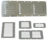 Lüftungsblech mit Fliegengitter für Kajüte und Motorraum Maße 232mm x 127mm