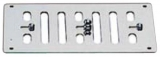 Lüftungsgitter mit gegenläufigen, frontseitig verstellbaren Lamellen 152x76mm ohne