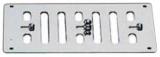 Lüftungsgitter mit gegenläufigen, frontseitig verstellbaren Lamellen 152x76mm mit