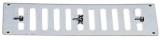 Lüftungsgitter mit gegenläufigen, frontseitig verstellbaren Lamellen 229x76mm ohne