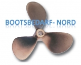 3-Blatt Schiffsschraube bronze Typ E13 Steigung = 22 x 14 Welle = 40mm