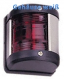 LED Positionslaternen für Boote bis 12m rot 112,5° Gehäuse weiss