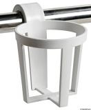 3 x Universaler Glashalter aus Kunststoff zur Schnappmontage auf Konsole oder Reling.