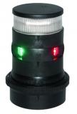 Aqua Signal Serie 34 LED Dreieinigkeit + Anker Tricolor + Anchor Gehäuse schwarz  Licht 135° 2x 112,5° 360°