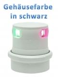 Aqua Signal Serie 34 LED Dreieinigkeit Tricolor 3 Farben Laterne Gehäuse schwarz Licht 2 x 112,5° + 1 x 135°