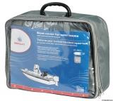 Persenning für offene Boote mit zentralem Steuerstand oder Brücke mit Windschutzscheibe  580/650