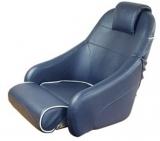 Bootssitz Flip-Up Marineblau mit weißer Kedernaht