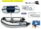 Schlauchboot 240 Sens Allpa fester Alu/PVC-Boden für Außenborder bis 4PS