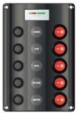 Schalttafel 12V ABS, 5 Pos. und Voltanzeige