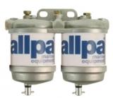 Doppelter Dieselfilter mit Wasserseparator bis Max 3500cc Kap 50L/Stunde ISO