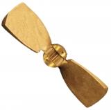 2-Blatt Faltpropeller bronze mit spezieller Nabe für Selva Saildrive Durchmesser = 14 Steigung = 11