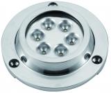 LED Unterwasserbeleuchtung, Aufbau LED 6 x 3W Rund