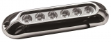 LED-Unterwasserscheinwerfer für Badeplattformen / Heckspiegel / Kiel 6x3 W blau
