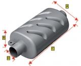 Schalldämpfer Anschluss 90mm Durchmesser aus Kunstoff