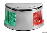 Mouse LED-Navigationslichter bis 20m Bootslänge Gehäuse Edelstahl poliert 225° zweifarbig