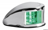 Mouse LED-Navigationslichter bis 20m Bootslänge Gehäuse Edelstahl poliert Steuerbord Grün