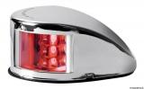 Mouse LED-Navigationslichter bis 20m Bootslänge Gehäuse Edelstahl poliert Backbord Rot
