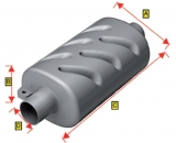 Schalldämpfer Anschluss 60mm Durchmesser aus Kunstoff
