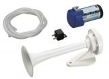 Signalhorn Weißes ABS-Horn mit Kompressor 24V-10A.