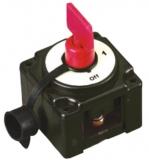 Batterieschalter, Dauerleistung 250A. Spritzwasserdicht