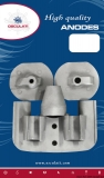 Yanmar Anode Set für Heckmotoren Aluminium