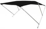 Sonnentop Wilma mit 3 Bögen ALU 20mm Breite 130cm schwarz