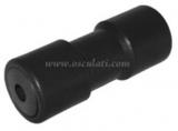 Mittlere Kielrolle mit Stahlkern + Kunststoffbuchse L 200mm  Bohrung 17mm schwarz