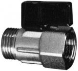 Verchromt-Messing Mini-Kugelhahn, 1/2 Innen- & Außengewinde