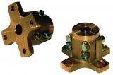 Bronze Klemmflansch kreuzförmig für 25mm Welle