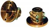 Klemmflansch aus Bronze mit Zentrierrand 25mm Welle