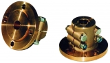 Klemmflansch aus Bronze mit Zentrierrand 35mm Welle