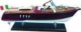 Holz-Modellboot Italienisches Motorboot  Maße 35 x 11 x 13 cm