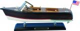 Holz-Modellboot Amerikanisches Motorboot Maße 35 x 11 x 13 cm