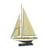 Holz-Modellboot EINMASTER Maße 38 x 5,5 x 53 cm