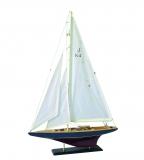 Holz Modellboot J-KLASSE Maße 60 x 11,5 x 87 cm