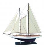 Holz Modellboot ZWEIMASTER SCHOONER Maße 72 x 11 x 72 cm