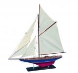 Holz Modellboot DEFENDER Maße 60 x 7 x 62 cm
