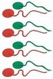 Trimmfädensatz für Vorsegel. 4 Paar, selbstklebende Wollfäden in grün und rot