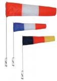 Windsack Flögel mit Seitenhalter und Tuch 100mm Farbe rot  weiß  blau