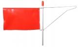 Windanzeiger mit roter PVC Flagge. OHNE Seitenhalter