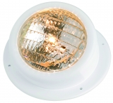 Leuchte für Badeplattform aus weißem ABS, wasserdicht  Ausführung  gekippt  Typ  24 V  50 W