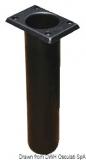 Angelrutenhalter aus UV-beständigem Polypropylen quadratisch 230mm schwarz